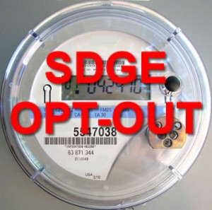 SDGE CA Smart Meters Opt-Out