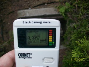 Smart meter shows large spike 15.92 milliwatts per meter squared, with constant lower level radiation and spikes about every 5-10 seconds.